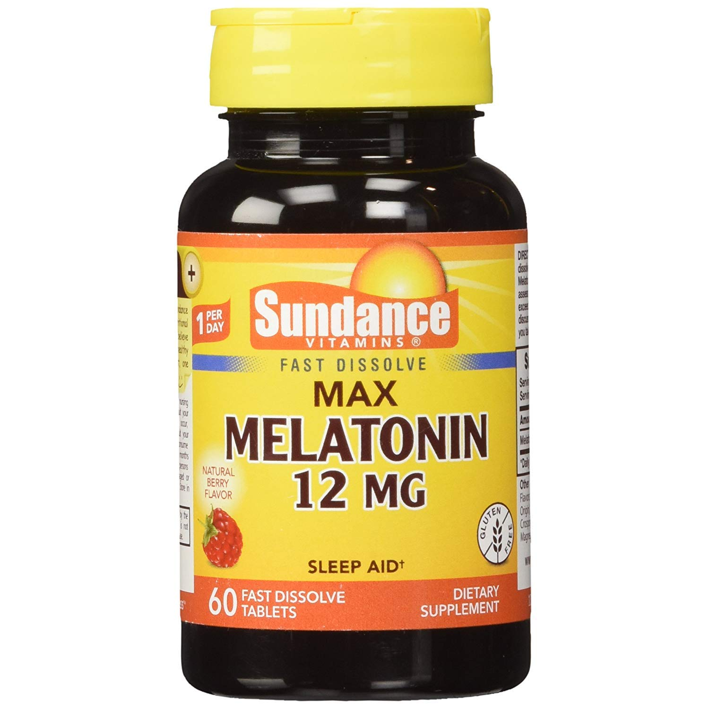 Amazon.com: Sundance Vitaminas Max Melatonina 12 mg Natural ...