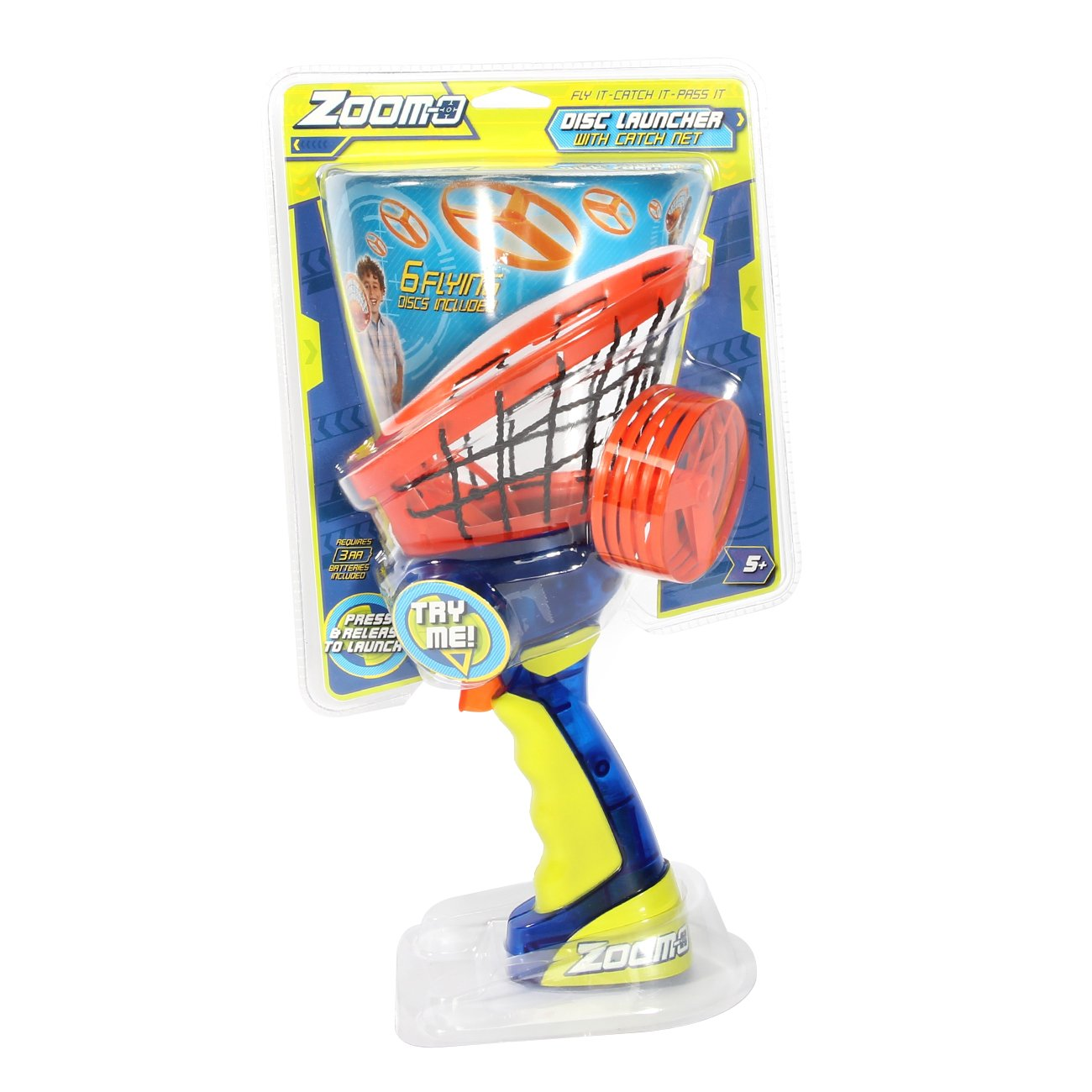 Zoom-O Disc Launcher with Catch Net by Zoom-O