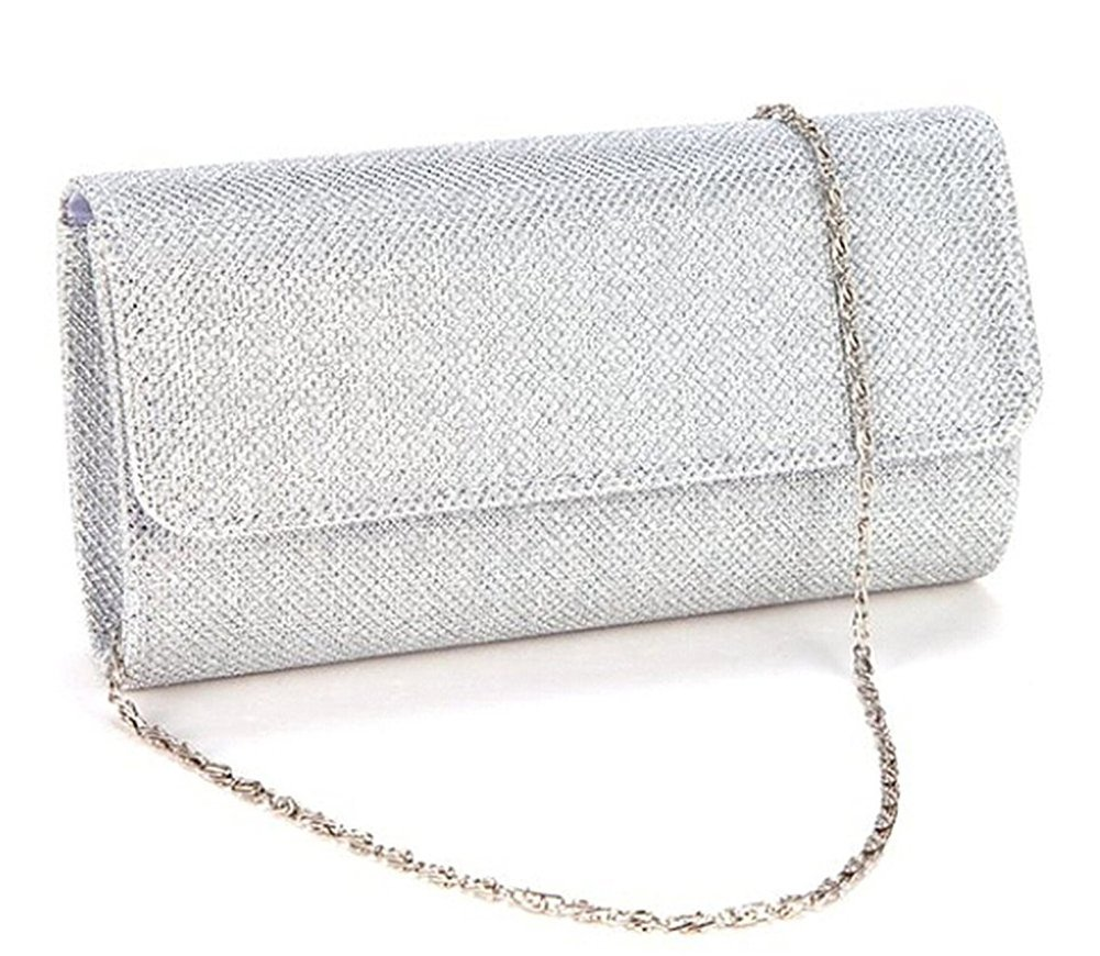 Evening Bag Clutch Purses for Women,iSbaby Ladies Sparkling Glitter Party Handbag Wedding Bag with Chain