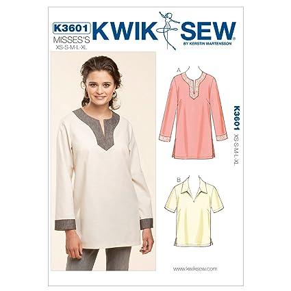 Amazon Kwik Sew K3601 Pull Over Tops Sewing Pattern Size Xs