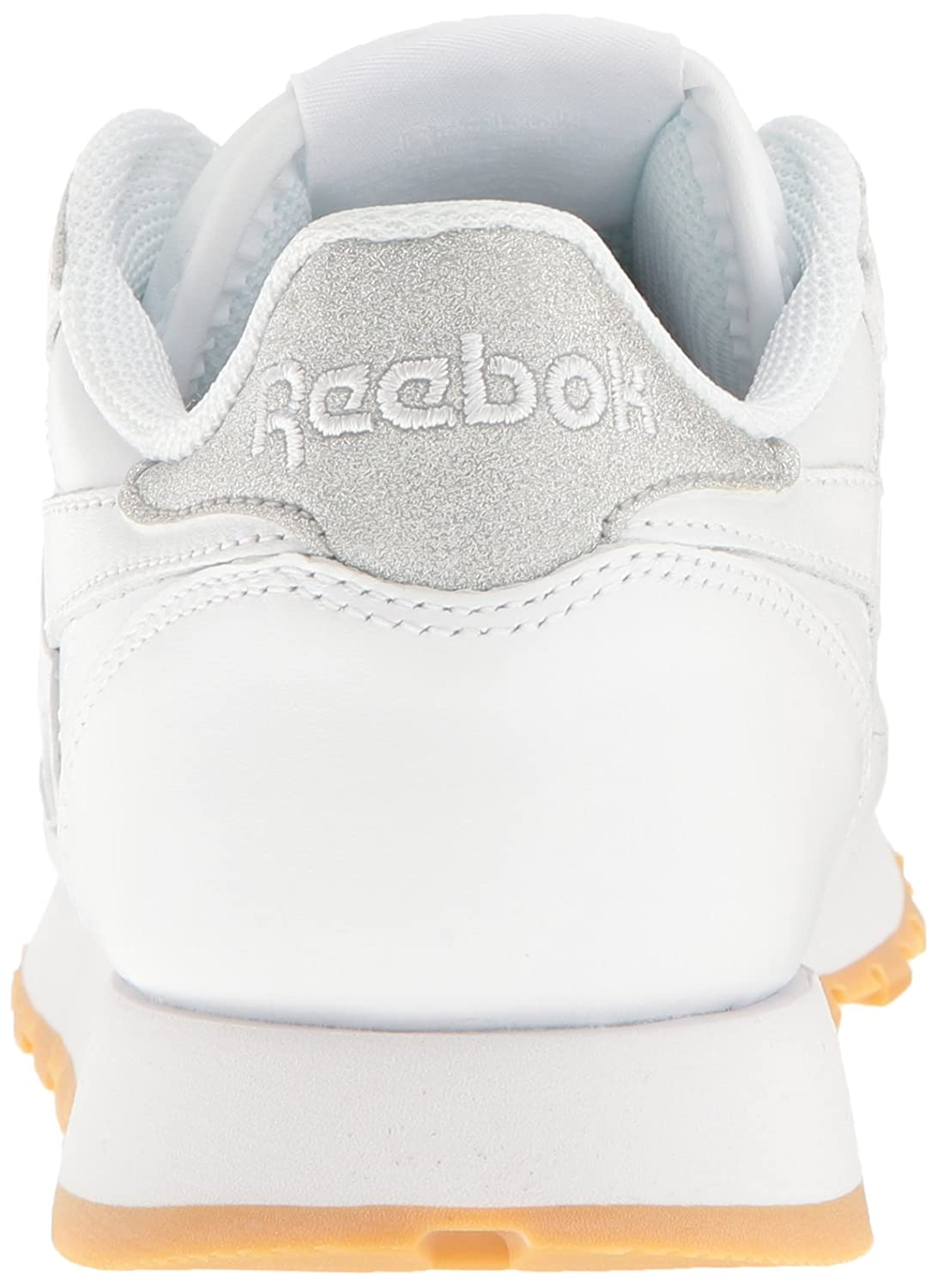 Reebok Women's Cl Lthr Met Diamond B(M) Fashion Sneaker B01GRWFT7I 7 B(M) Diamond US|White/Gum 370104