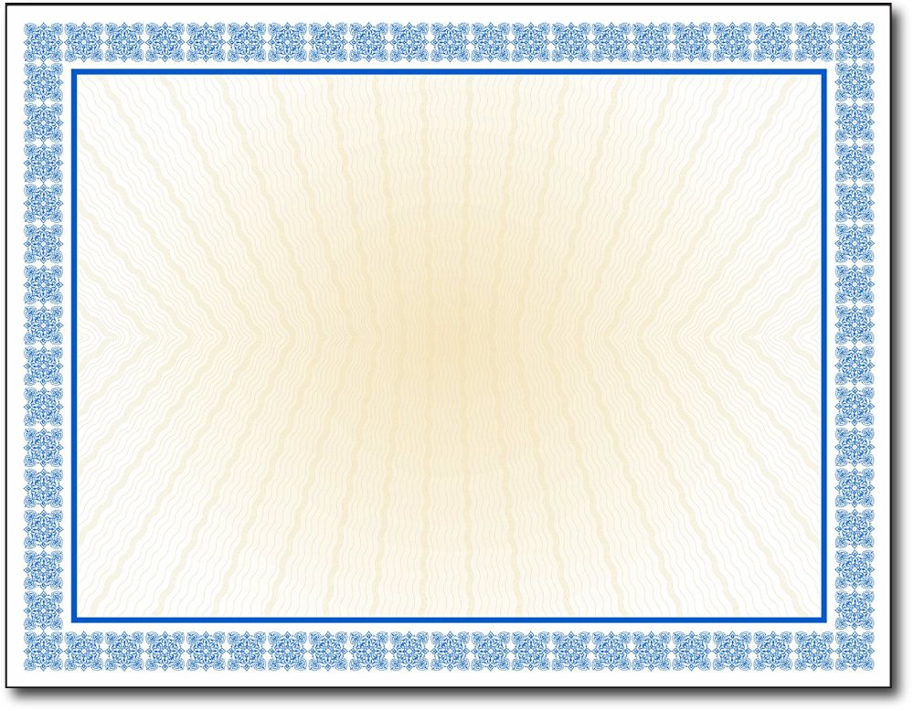 Westminster Blue Value Certificates - 100 Sheets - Inkjet / Laser Compatible - Blank for Customization - Great for Graduations, Acheivements & Awards