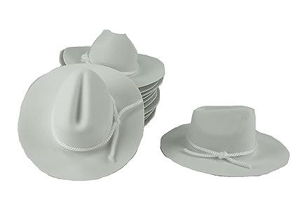 Amazon 12 Mini White 4 Felt Cowboy Hat Western Wedding Party