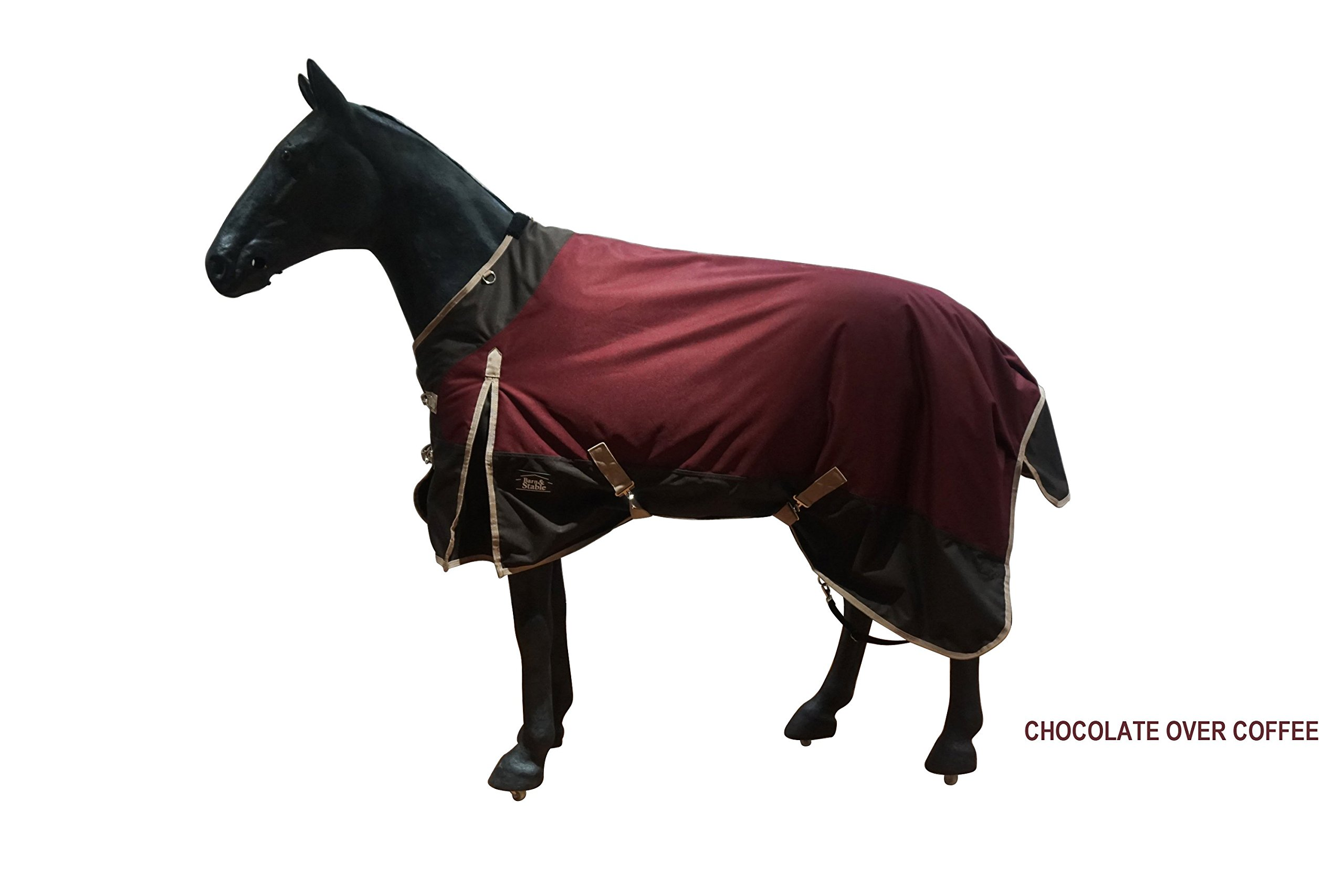 Barn & Stable Horse Blanket Turnout Blanket 1200D, 210D Lining and 200grm Fill by Barn&Stable