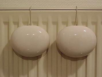 Viva-Haushaltswaren - 2 pequeñas, ovalada cerámica agua - Humidificador para radiadores (