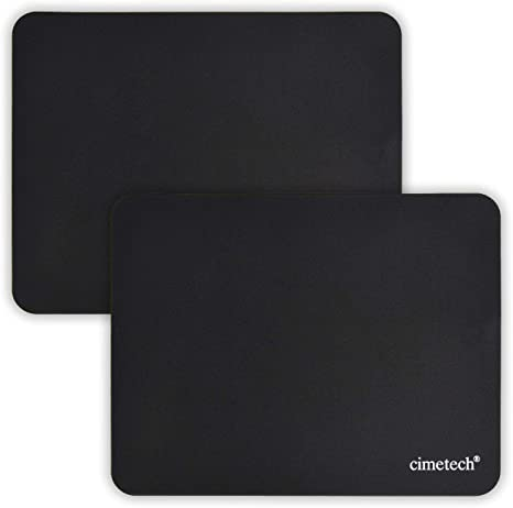cimetech Comfortable Mouse Pad Gaming Surface Superfine Fiber Smooth Silk Sensors Wipe Washable for Laptop Computer Normal 5PCS, Black