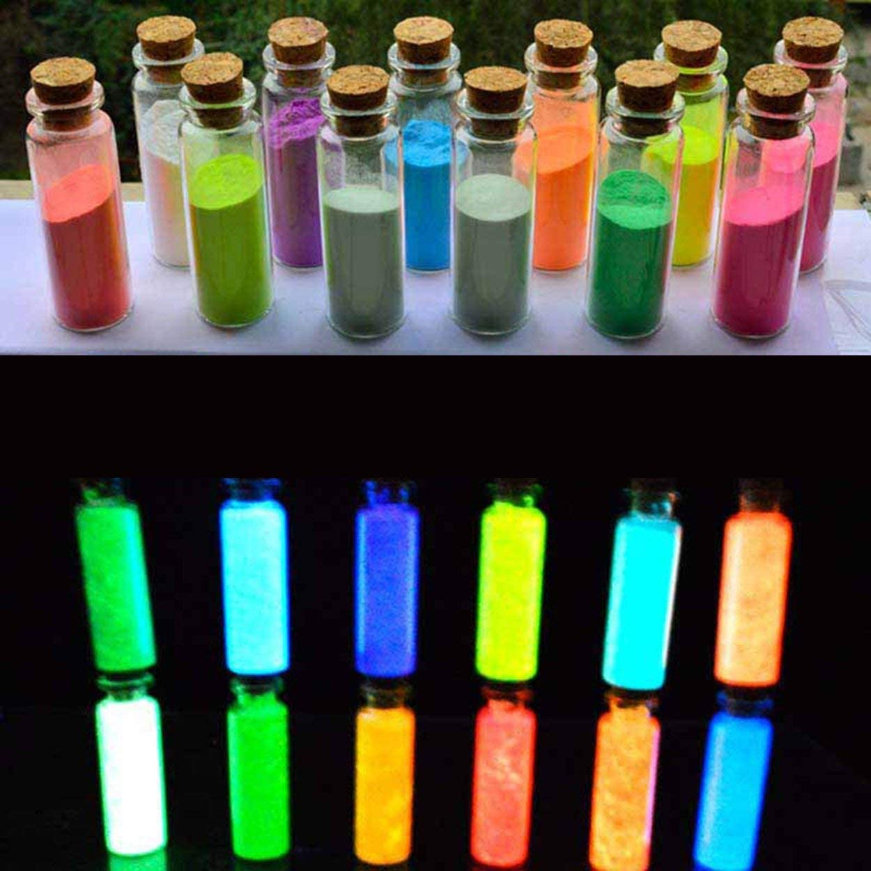 Anam Safdar Butt Glow In The Dark Sand Colorful Fluorescent Super Luminous Particles Glow Pigment Bright Glow Sand Home Decor Party