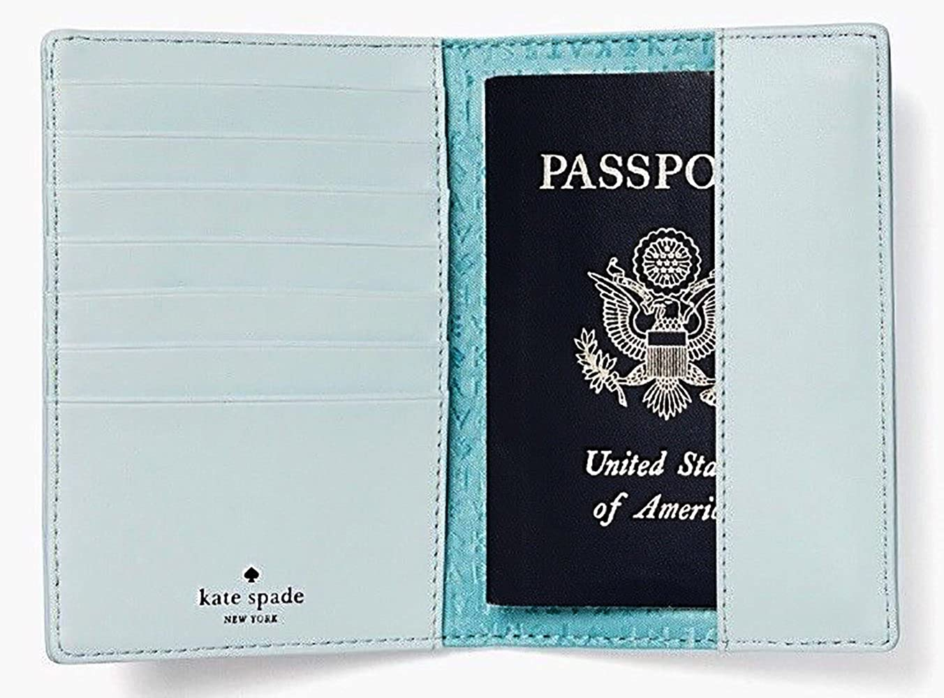 Blue Kate Spade Imogene Leather Passport Holder Case Out Of Office Multi