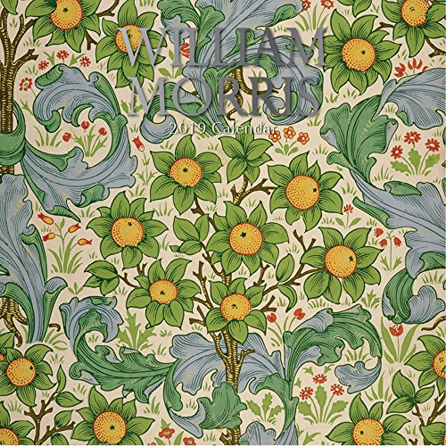 2019 Wall Calendar - William Morris Art Calendar, 12 x 12 Inch Monthly View, 16-Month, Famous Artists and Artworks Theme, Includes 180 Reminder Stickers
