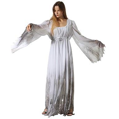 Amazon Com Eraspooky Women Gossamer Ghost Costume Gothic Victorian