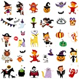 Temporary Tattoos for Kids, 150 Pack Temporary Halloween Tattoos,Including Glow in The Dark Children Tattoos Halloween,2(Glow