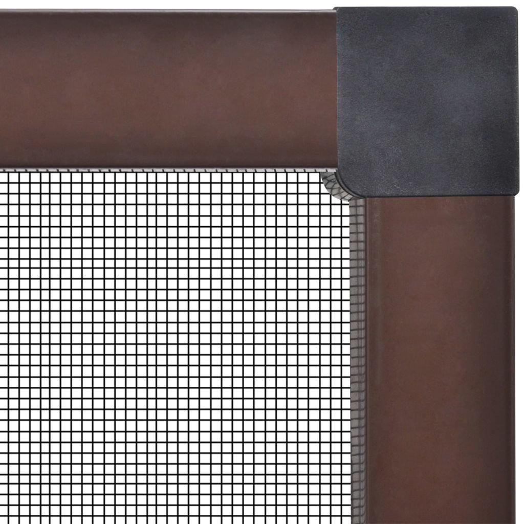 vidaXL Mosquitera de Ventana 130x150 cm Aluminio Blanco Pantalla Insecto Malla