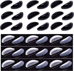 18 Pair Airbag Eyeglasses Nose Pads - Soft Silicone Air Chamber Eyeglass Nose Pads (Black & Clear)