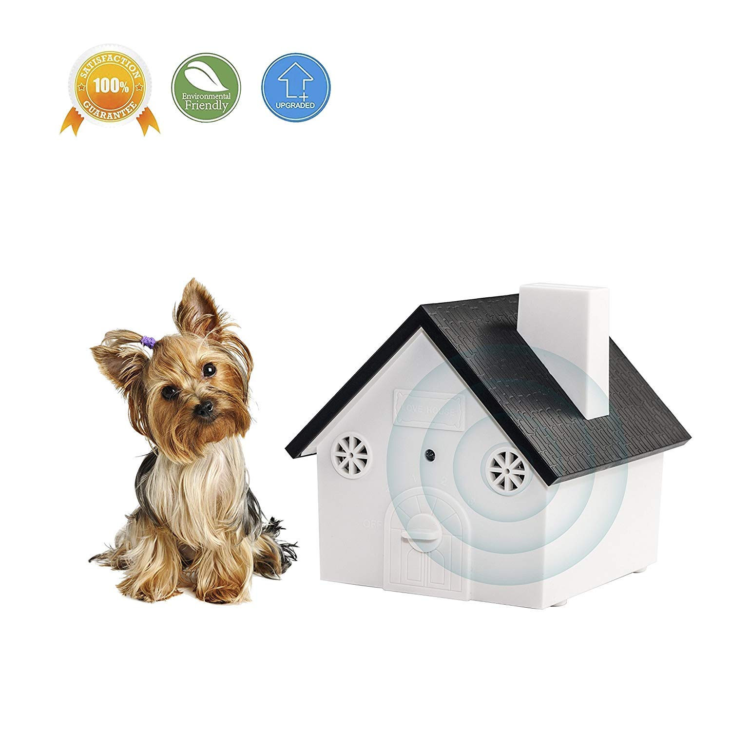 Outdoor Ultrasonic Stopper New Dog Driver Suitable for Dogs, Pets and Humans, up to 50 feet Range, Hanging or Mounted
