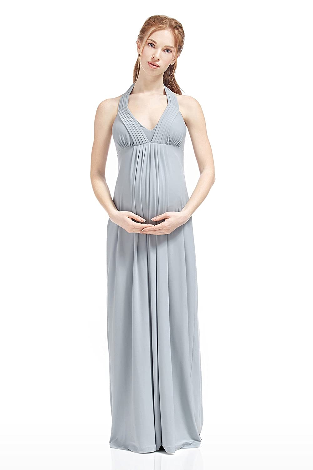 Nothing But Love Maternity And Nursing Dress Valeria Empire Waist Halter Maxi NBL