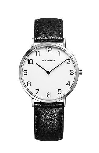 BERING Reloj Analógico para Mujer de Cuarzo con Correa en Cuero 13934-404: Amazon.es: Relojes