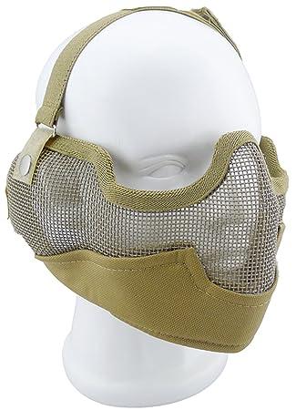 Airsoft Militar Caza Media máscara para paintball Halloween Cosplay Disfraz Máscara Matrix Hierro Cara de acero