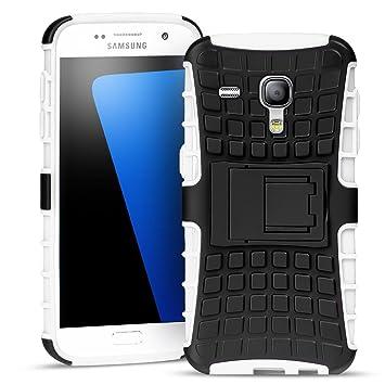 Conie Outdoor Hülle kompatibel mit Samsung Galaxy S3 Mini, verstärkte Schutzhülle rutschfest wasserabweisend Kantenschutz Rückschale Case in Weiß