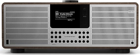 Revo Supersystem Internet Dab Radio Stereo Sound Internet Dab Dab Ukw Spotify Wlan Lan Aux In Line Out Kopfhörer Ausgang Inkl Netzteil Walnuß Silber Heimkino Tv Video