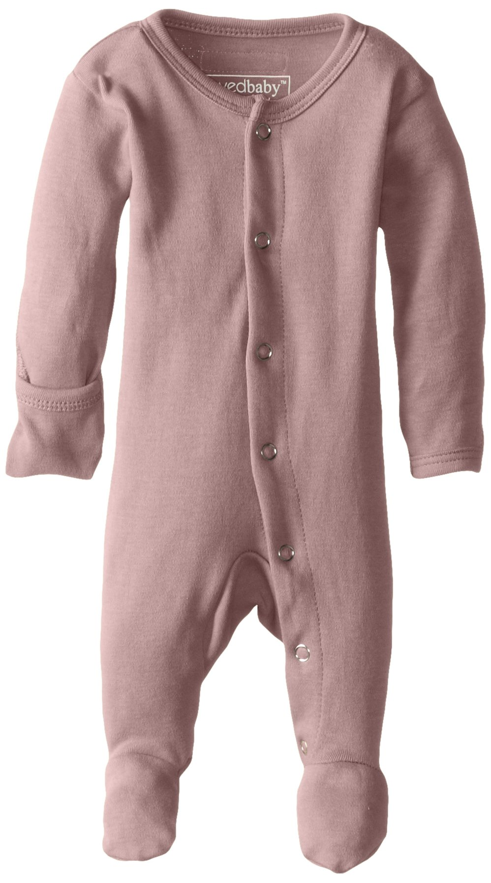 L'ovedbaby Unisex-Baby Organic Cotton Footed Overall, Mauve, 0/3 Months by L'ovedbaby