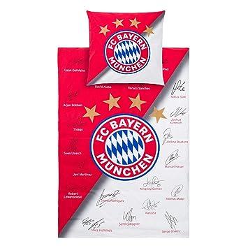Fc Bayern München Bettwäsche Signature 2 Teilig Fcb Plus