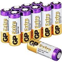 GP 23A Pila 12V - Pack de 10 Pilas 23A A23 MN21 V23GA L1028 LRV08 Alcalinas de 12 voltios | Larga duración a máxima…