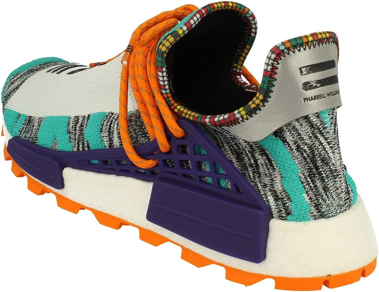 adidas Pharrell Williams Solar Hu NMD Hommes Trainers Sneakers Aqua Core Black Purple Bb9528