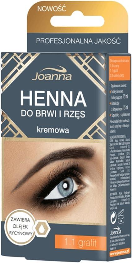 Joanna – Henna Color Crema para cejas y pestañas – 1.1 ...