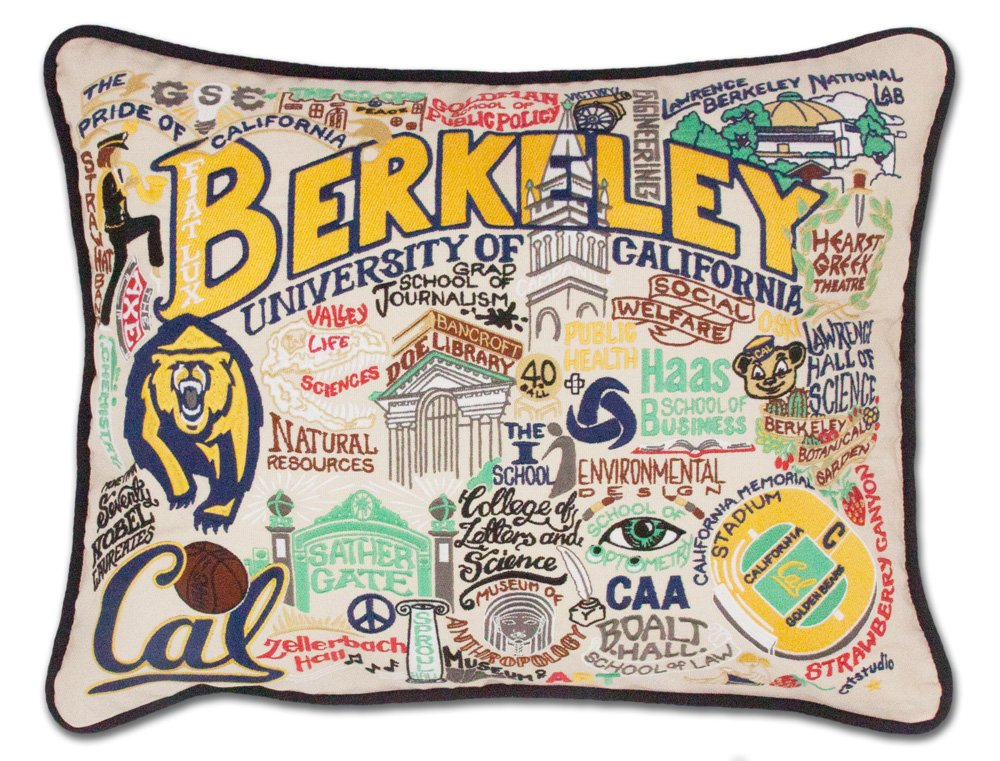 BERKELEY UC (CAL) COLLEGIATE EMBROIDERED PILLOW - CATSTUDIO