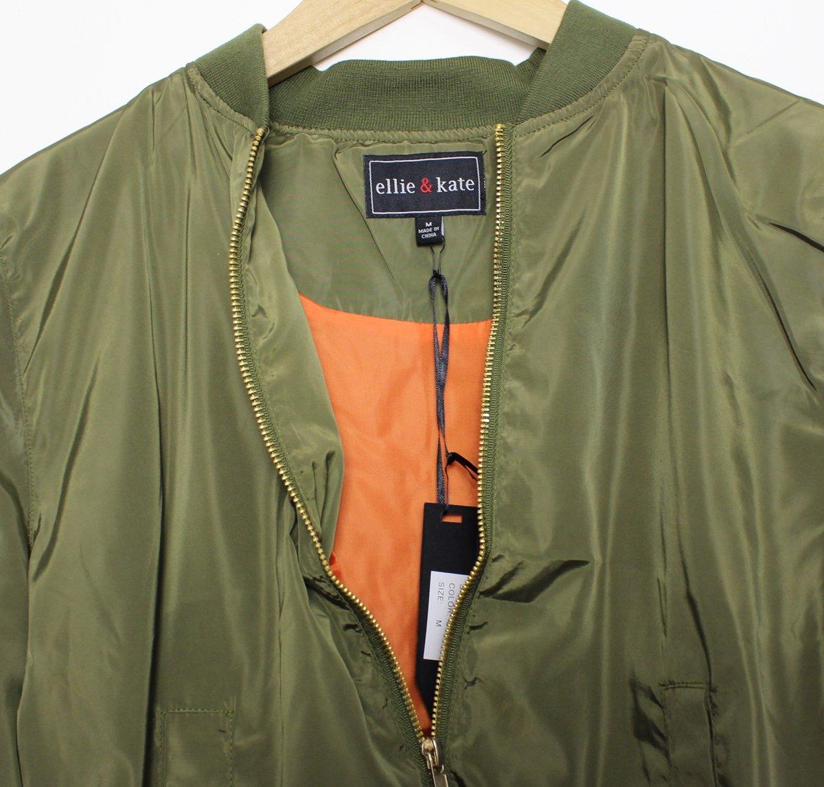 EchoMerx Lightweight Bomber Jacket, Olive (M)