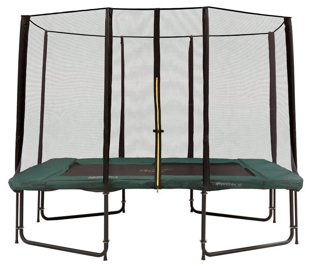 Rechteckige trampolin Magic Circle Pro 214 x 305 cm mit Sicherheitsnetz Grün
