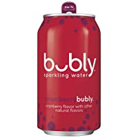 18-Count Bubly Sparkling Water, Cranberry 12 Oz