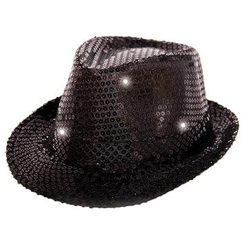 Folat 24070 Tribly - Sombrero de fiesta con lentejuelas e iluminación LED 7df758d96ea