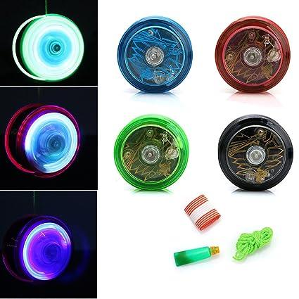 Amazon.com: Jesse Cute Light Up Yoyo pelota para malabares ...