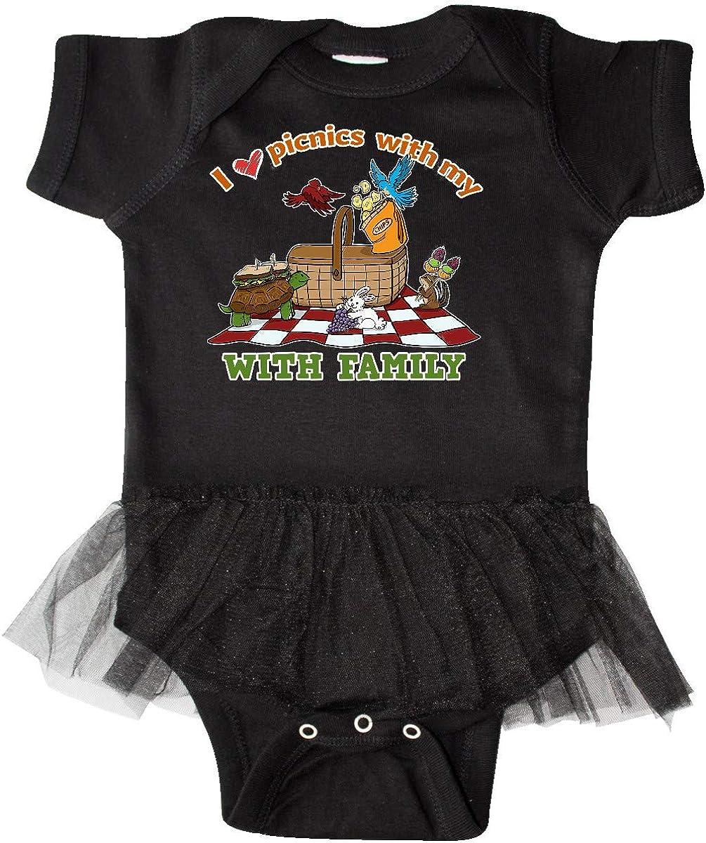 inktastic I Love Picnics with My Family with Picnic Scene Infant Tutu Bodysuit
