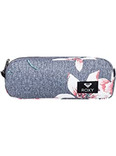 Roxy Da Rock Estuche Escolar, Mujer, Rosa/Gris (Charcoal Heather Flower Field