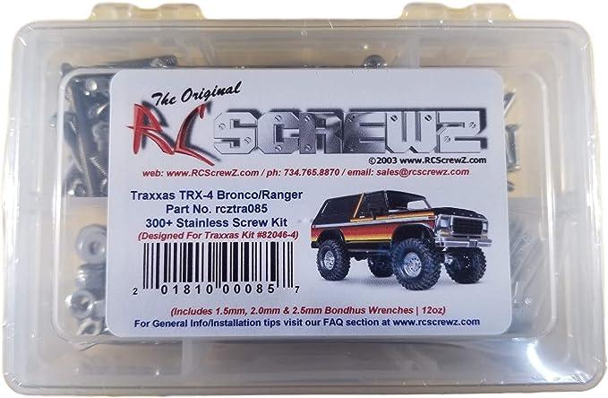 387Stk//Set Edelstahl Schrauben Kit Für 1//10 RC Car Traxxas TRX-4 Crawler NEU