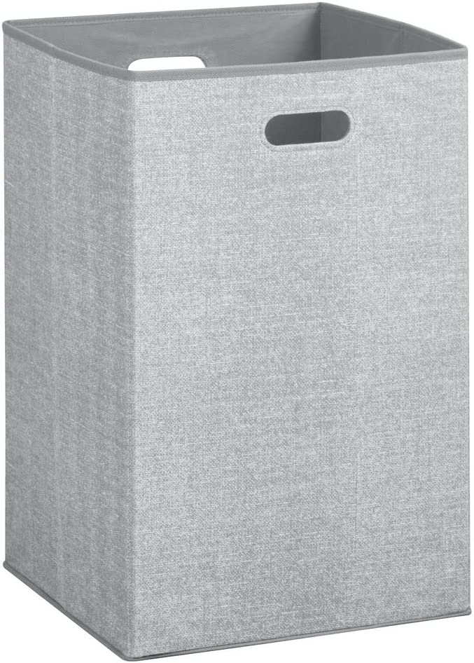 iDesign Aldo Folding Laundry Clothes Hamper with Handles - Gray