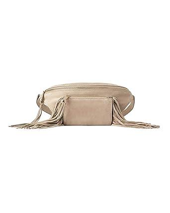 96d0fb6a84 Image Unavailable. Zara Women Split suede crossbody belt bag with fringing  ...