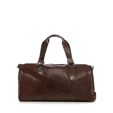 5893735b0dd Rjr.John Rocha Men Designer Brown Pebbled Leather Holdall: Amazon.co.uk:  Clothing