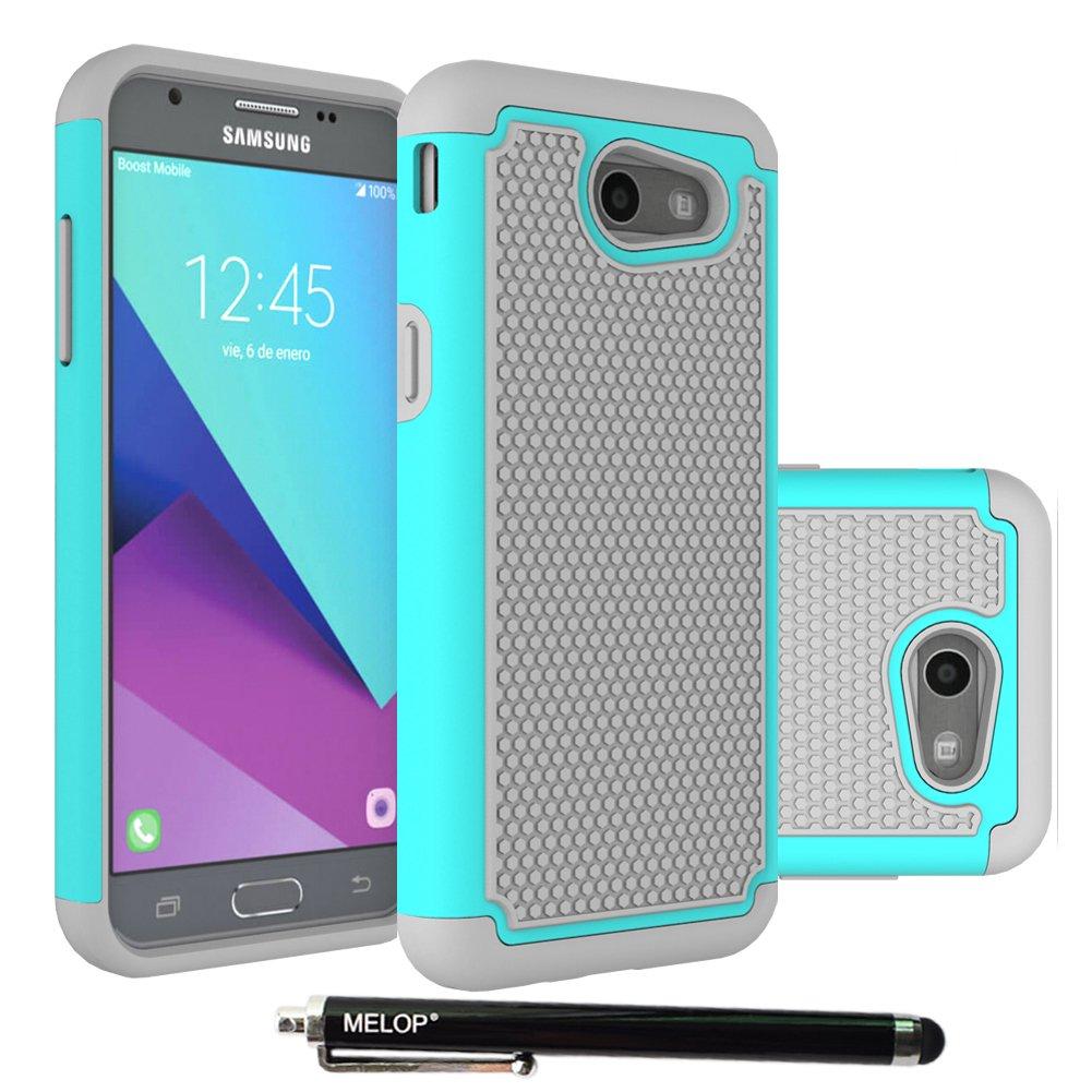Galaxy J3 Emerge Case, MELOP Hybrid Dual Layer Shock Absorption Case with Kickstand Case for Samsung Galaxy J3 Emerge 2017 / Express Prime 2 / Amp Prime 2 /Sol 2/ Eclipse / Luna Pro / J327P - Black