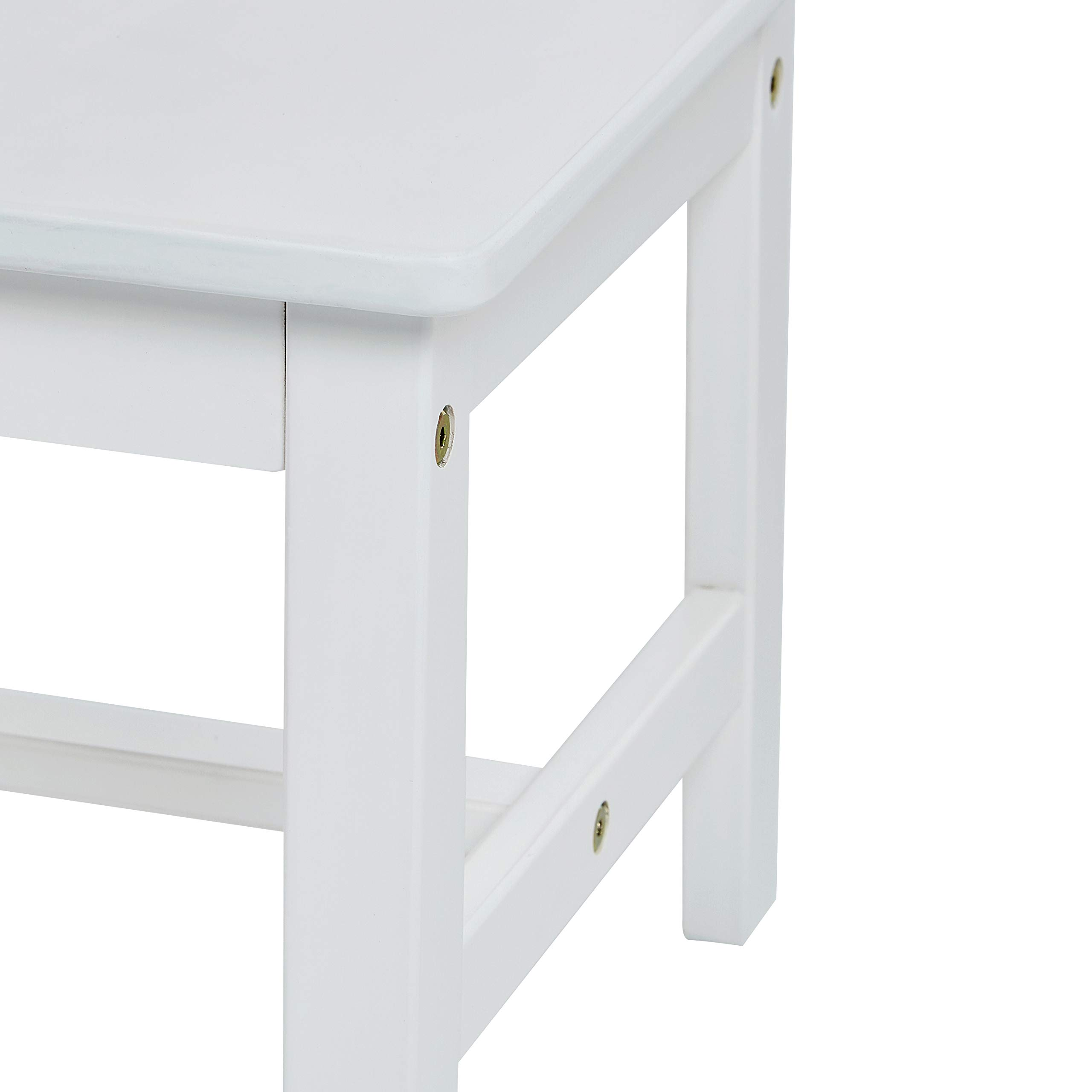 AmazonBasics Kids Solid Wood Table and 2 Chair Set, White by AmazonBasics (Image #5)