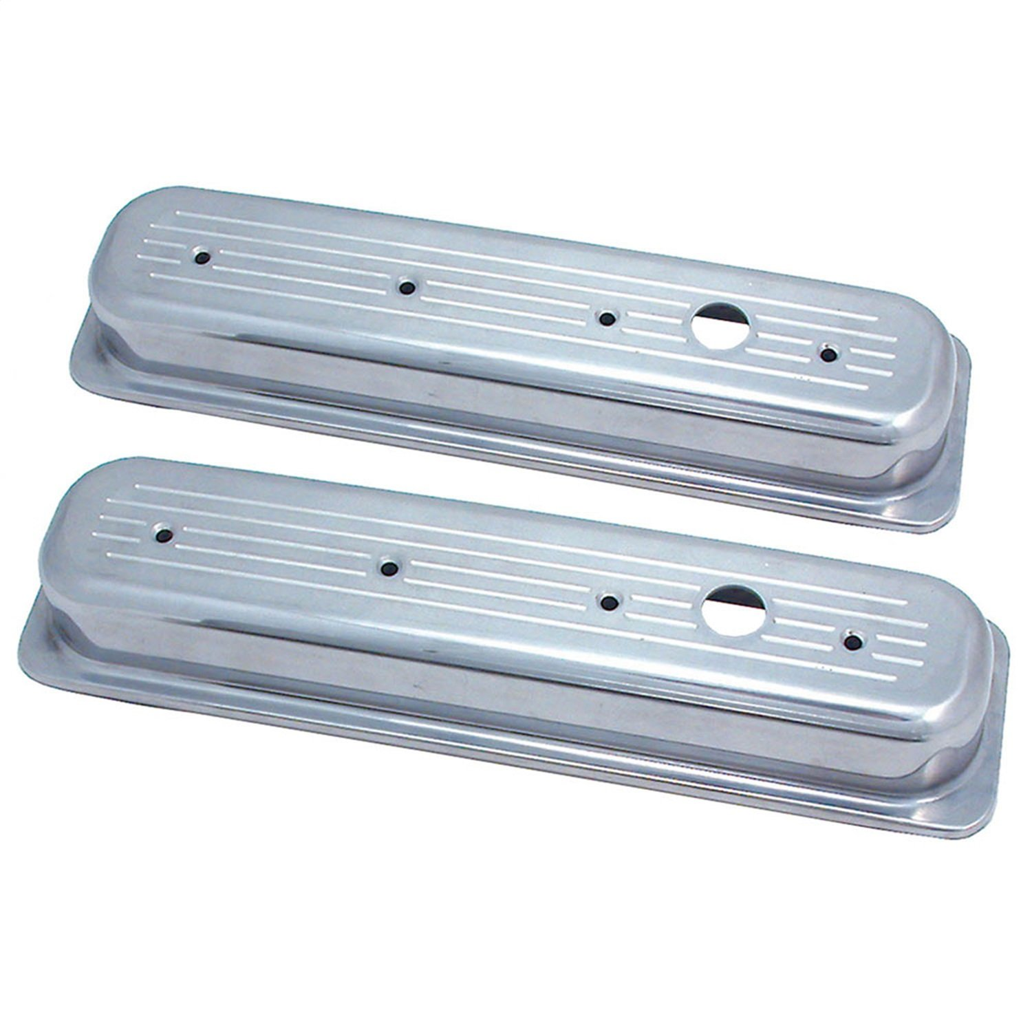Spectre Performance 4995 Ball Milled aluminum Valve Cover for Small Block Chevy