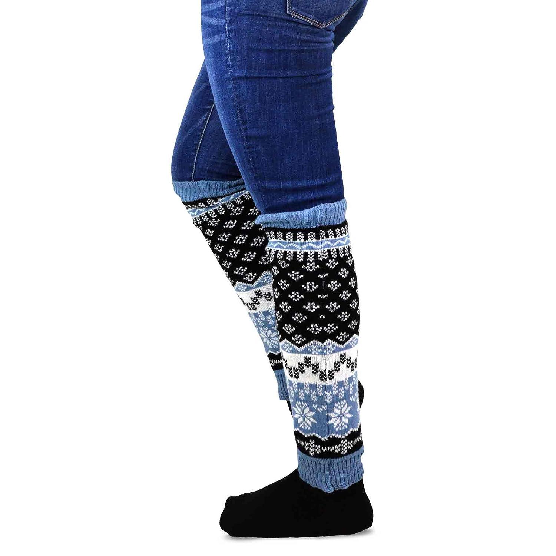 TeeHee Gift Box Womens Fashion Leg Warmers 4-Pack Assorted Colors