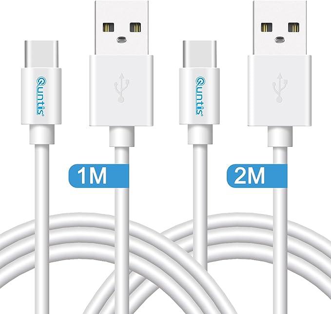 Câble de Chargeur USB de Type C à A Couleur Blanche 1,2 MT