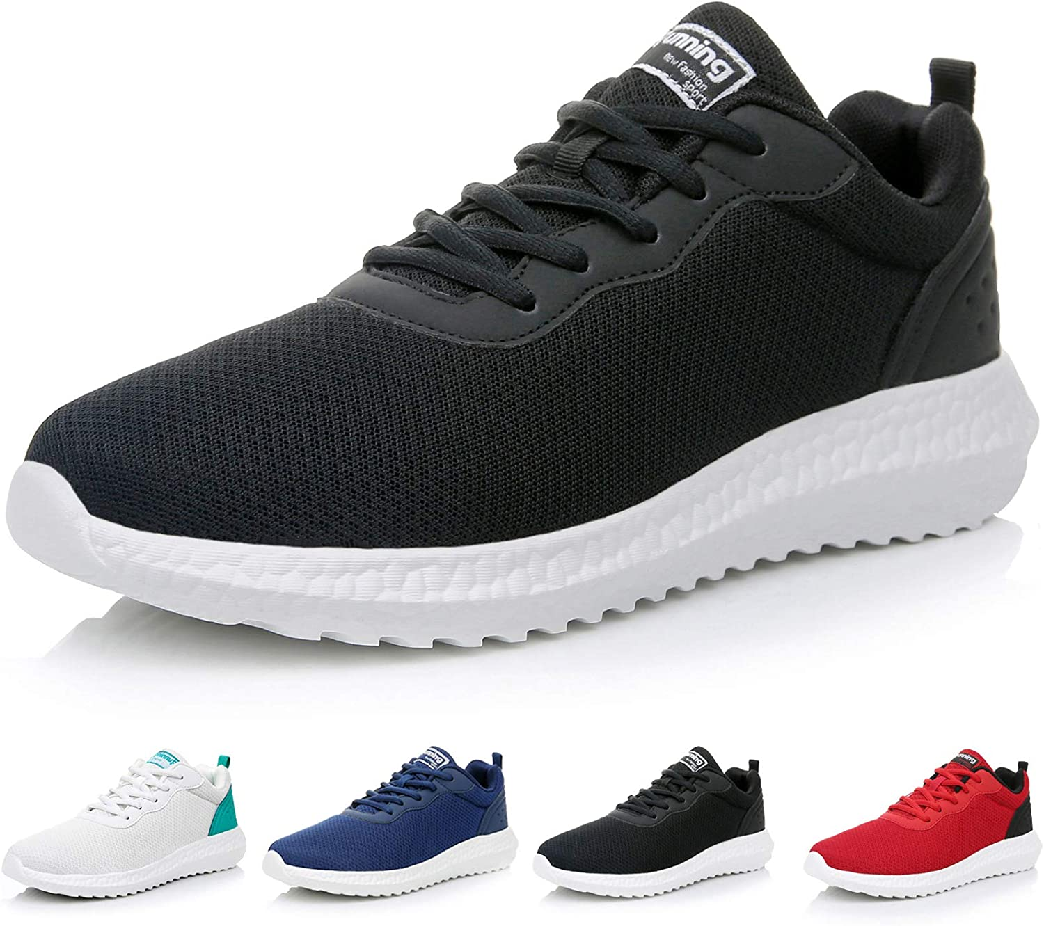 GOOBON Men s Lightweight Running Tennis Sneakers Non-Slip Breathable Walking Shoes Gym Jogging Fashion Sports Casual Athletic Shoes US7-12