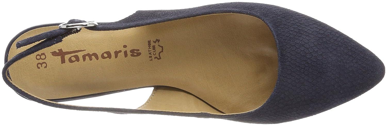 Tamaris Damen (Navy 29400 Slingback Sandalen Blau (Navy Damen Sued.str) 64b352