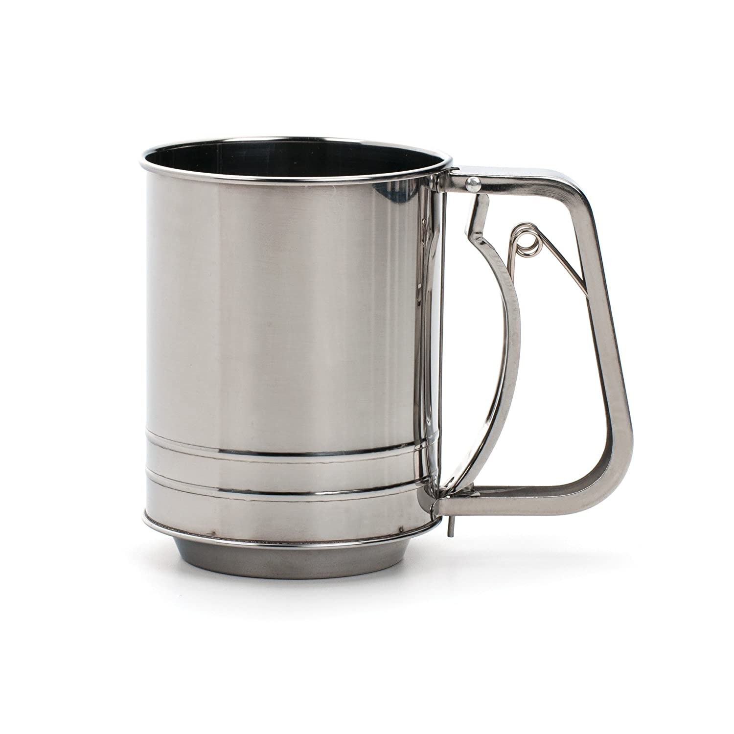 RSVP Endurance Stainless Steel Crank Style Flour Sifter, 3 Cup (SIFT-3CR) RSVP International