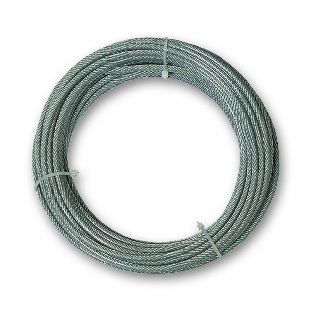 Chapuis CCG620 Cable revestido de PVC - Acero galvanizado - 159 kg - Diá metro 4/6 mm - Largo 20 m