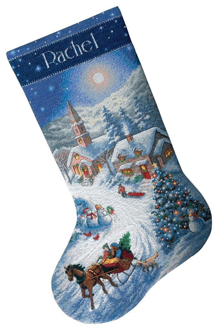 Candy Cane Santa Stocking Kit Dimensions 08778 Needlecrafts Counted Cross Stitch